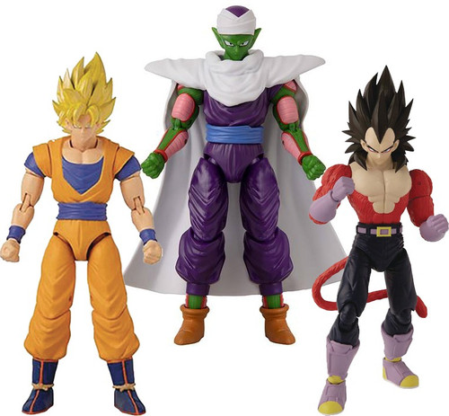 Dragon Ball Super Dragon Stars Series 13 Super Saiyan 4 Vegeta, Super Saiyan Goku V2 & Piccolo V2 Set of 3 Action Figures