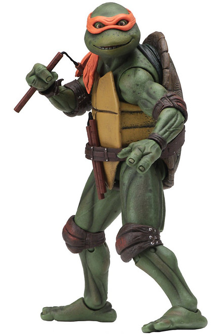 NECA Teenage Mutant Ninja Turtles Michelangelo Exclusive Action Figure [1990 Movie, Damaged Package]
