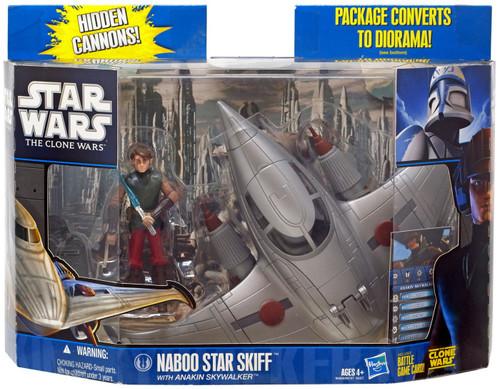 Star Wars The Clone Wars 2010 Naboo Skiff with Anakin Skywalker Action Figure & Vehicle