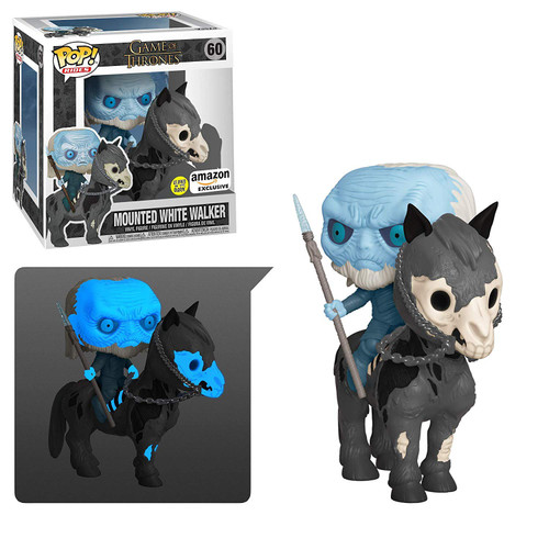 Funko Game of Thrones Pop! Rides Mounted White Walker Exclusive Vinyl Figure #60 [Glow in the Dark]