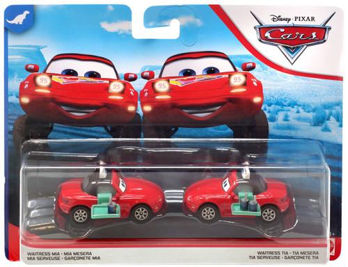 Disney / Pixar Cars Dinoco 400 Waitress Mia & Waitress Tia Diecast Car 2-Pack