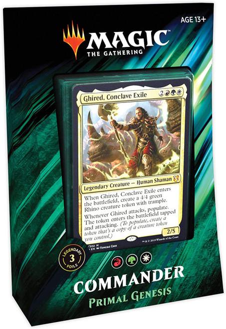 MtG Trading Card Game 2019 Commander Primal Genesis Deck [White, Red & Green]