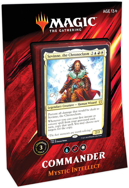 MtG Trading Card Game 2019 Commander Mystic Intellect Deck [Blue, Red & White]