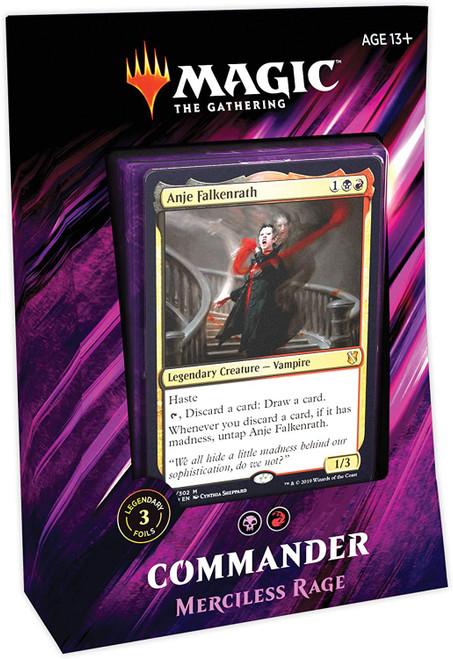 MtG Trading Card Game 2019 Commander Merciless Rage Deck [Red, White & Black]