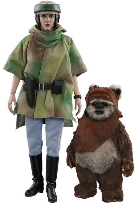 Star Wars Return of the Jedi Movie Masterpiece Princess Leia & Wicket Collectible Figure MMS551 [Return of the Jedi]