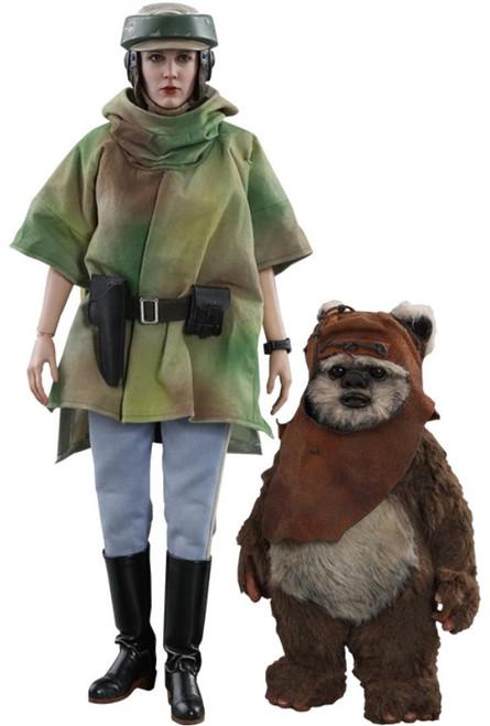 Star Wars Return of the Jedi Movie Masterpiece Princess Leia & Wicket Collectible Figure MMS551 [Return of the Jedi]