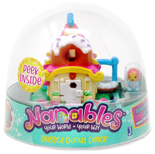 Nanables Dusted Donut Diner .5-Inch Mini Playset