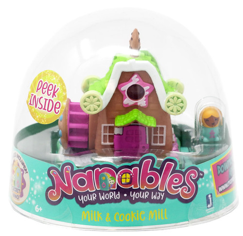 Nanables Milk & Cookie Mill .5-Inch Mini Playset