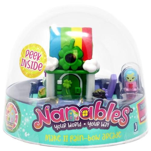 Nanables Make It Rain-Bow Arcade .5-Inch Mini Playset