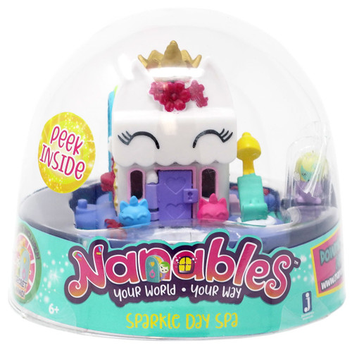 Nanables Sparkle Day Spa .5-Inch Mini Playset