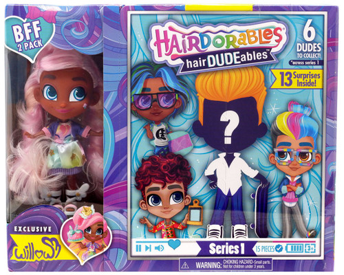 Hairdorables hairDUDEables Willow BFF 2-Pack