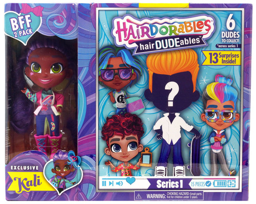 Hairdorables hairDUDEables Series 1 Kali BFF 2-Pack