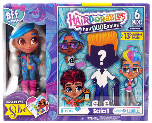 Hairdorables hairDUDEables Series 1 Sallee BFF 2-Pack