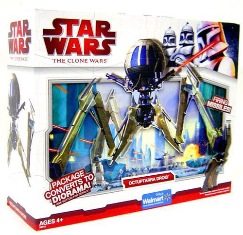 Star Wars The Clone Wars 2009 Octuptarra Droid Exclusive Action Figure Vehicle