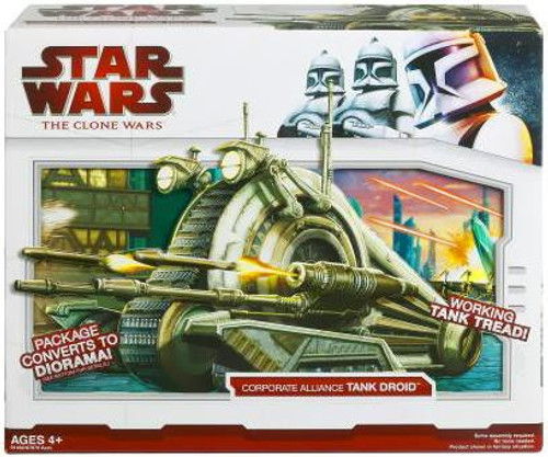 Star Wars The Clone Wars 2009 Corporate Alliance Tank Droid Action Figure Vehicle