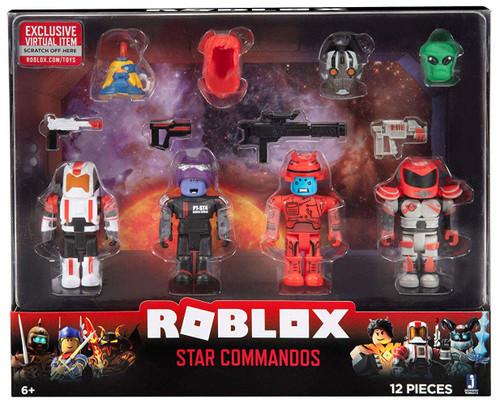 Roblox Mix & Match Star Commandos 3-Inch Figure 4-Pack Set