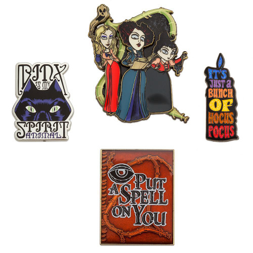 Disney Hocus Pocus Enameled Cloisonne Exclusive Pin Set