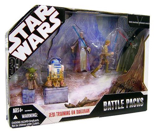 Star Wars Empire Strikes Back 2007 Saga Legends (30th Anniversary) Jedi Training on Dagobah Battle Pack [Damaged Package]