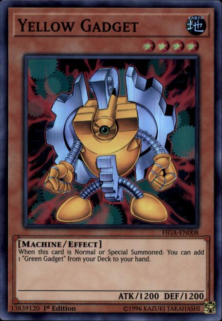 YuGiOh Fists of the Gadgets Super Rare Yellow Gadget FIGA-EN008