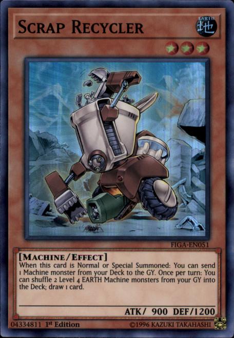 YuGiOh Fists of the Gadgets Super Rare Scrap Recycler FIGA-EN051