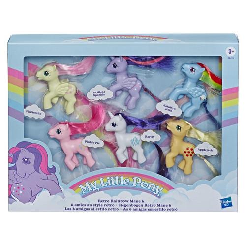 My Little Pony Retro Rainbow Mane 6 Exclusive 3-Inch Figure 6-Pack
