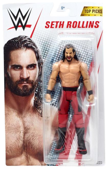 WWE Wrestling Top Picks 2019 Seth Rollins Action Figure [Basic, Red Pants]