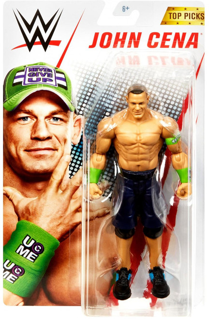 WWE Wrestling Top Picks 2019 John Cena Action Figure [Basic, Green Armbands]