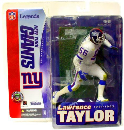 McFarlane Toys NFL New York Giants Sports Picks Legends Series 1 Lawrence Taylor Action Figure [White Jersey Variant]