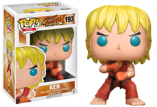 Funko Street Fighter POP! Games Ken Exclusive Vinyl Figure #193 [Special Attack, Damaged Package]