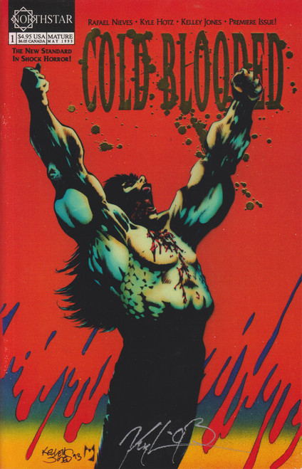 North Star Cold Blooded #1 Autographed by Kyle Hotz Comic Book [Gold Cover]