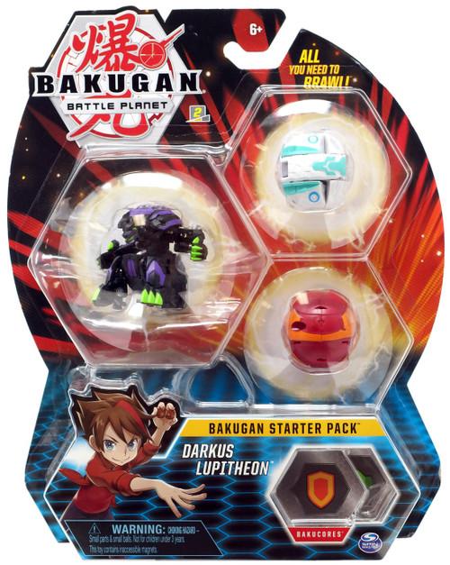 Bakugan Battle Planet Darkus Lupitheon Starter Pack