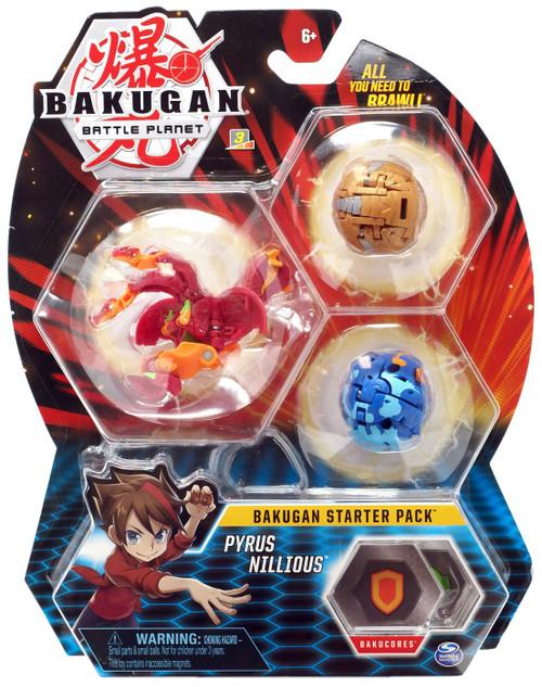Bakugan Battle Planet Pyrus Nillious Starter Pack
