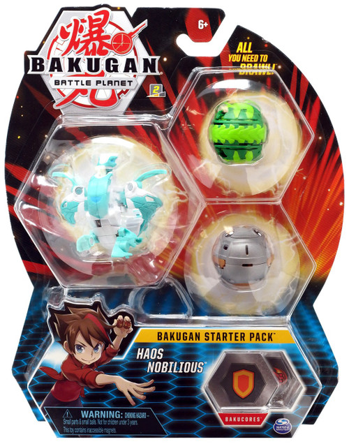Bakugan Battle Planet Starter Pack Haos Nobilious 3-Figure Set