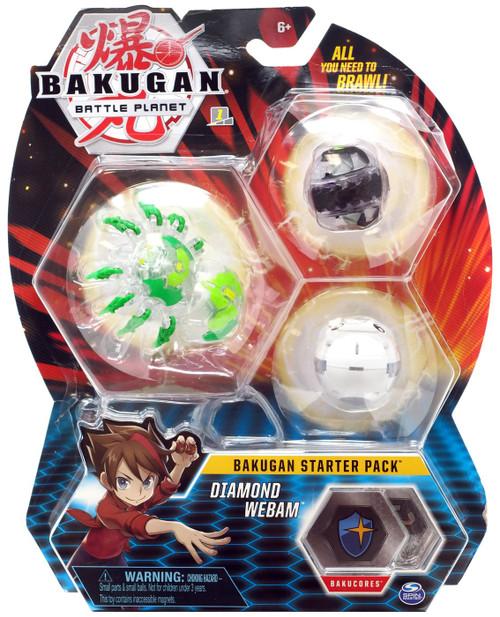 Bakugan Battle Planet Starter Pack Diamond Webam 3-Figure Set