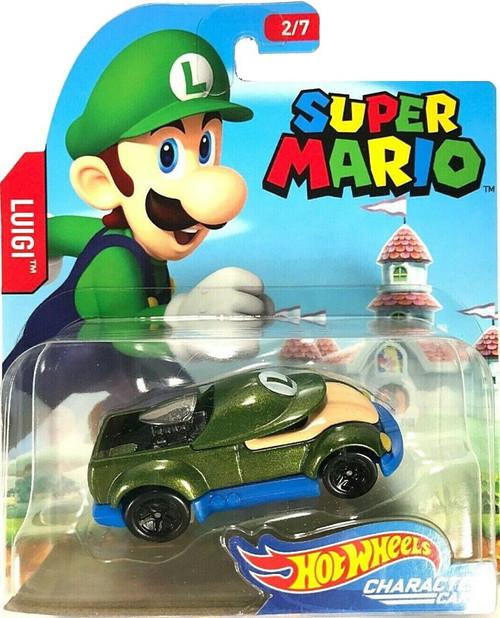 Hot Wheels Super Mario Luigi Diecast Car [2/7]