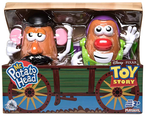 Toy Story 4 Mr. Potato Head Buzz Lightyear & Woody Exclusive 7-Inch Figure 2-Pack