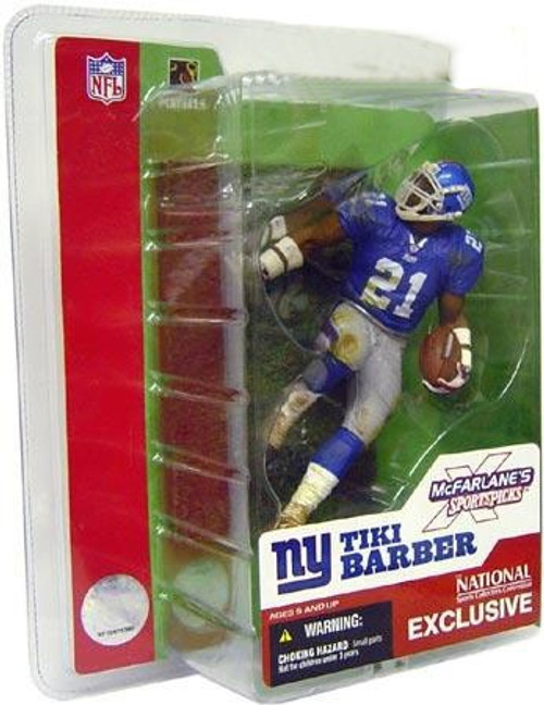 McFarlane Toys NFL New York Giants Sports Picks 2003 National Tiki Barber Exclusive Action Figure [Damaged Package]