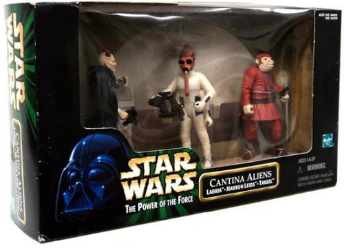 Star Wars A New Hope Power of the Force POTF2 Deluxe Cantina Aliens Action Figure 3-Pack [Damaged Package]