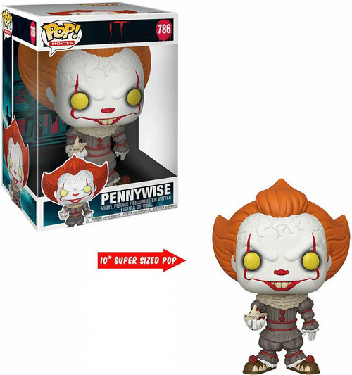 Funko IT Movie Chapter 1 POP! Movies Pennywise with Boat 10-Inch Vinyl Figure #786 [Damaged Package]