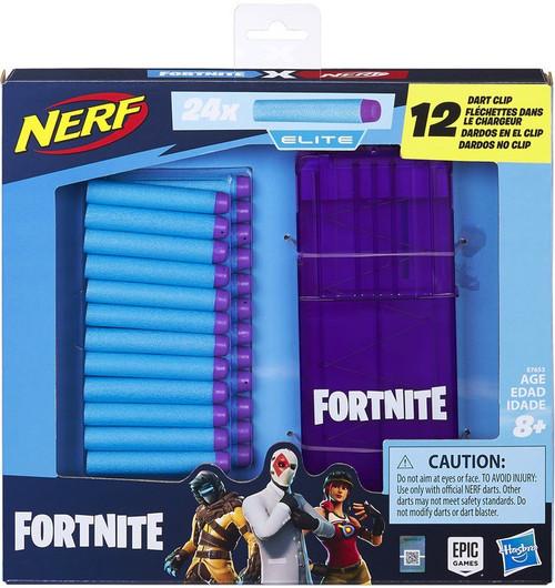 Fortnite 12-Dart Clip & 24 Official Nerf Elite Darts Refill Pack