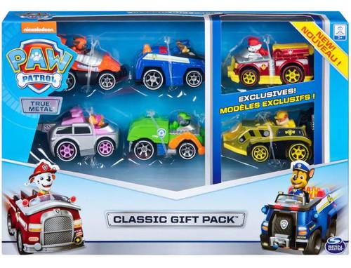 Paw Patrol True Metal Chase, Zuma, Rubble, Marshall, Skye & Rocky Classic Gift Diecast Car 6-Pack