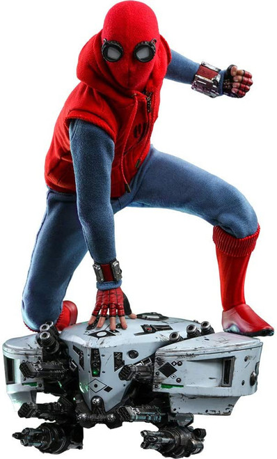 Marvel Spider-Man Homecoming Movie Masterpiece Spider-Man Homemade Suit & Drone Collectible Figure