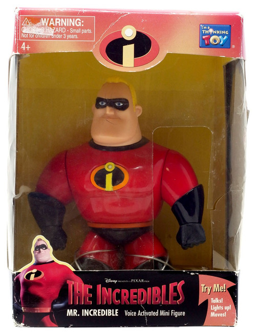 Disney / Pixar Incredibles Mr. Incredible Action Figure [Voice Activated, Damaged Package]