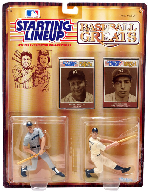 MLB Starting Lineup Baseball Greats Mickey Mantle & Joe DiMaggio Action Figure 2-Pack
