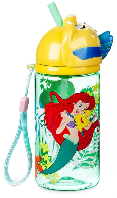 Disney The Little Mermaid Flounder Exclusive Water Bottle with Straw