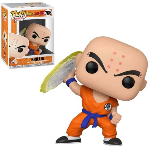 Funko Dragon Ball Z POP! Animation Krillin Vinyl Figure #706 [Destructo Disc]