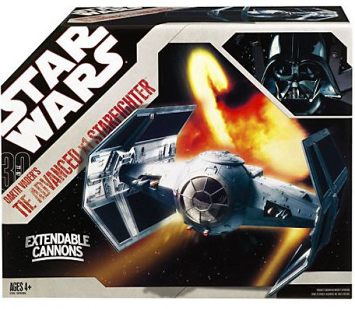 Star Wars A New Hope 2007 Saga Legends (30th Anniversary) Darth Vader's TIE Advanced Action Figure Vehicle