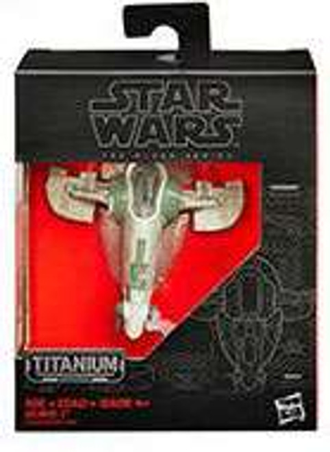 Star Wars Attack of the Clones Black Titanium Slave I 2-Inch Diecast Vehicle