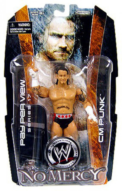 WWE Wrestling Pay Per View Series 17 No Mercy CM Punk Action Figure