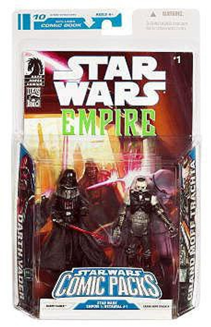 Star Wars Expanded Universe 2009 Comic Packs Darth Vader & Admiral Trachta Action Figure 2-Pack #1